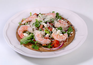 The Perfect 10 Diet Shrimp Pizza recipe